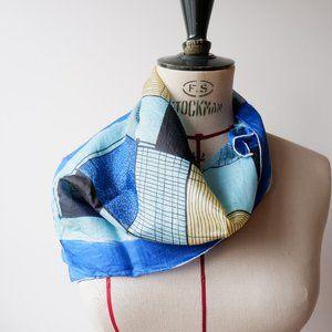 🐝  Vintage Silk Blend Scarf - Made in 🇯🇵